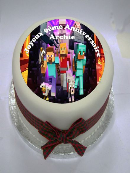 Minecraft Edible Cake Topper (option 2)